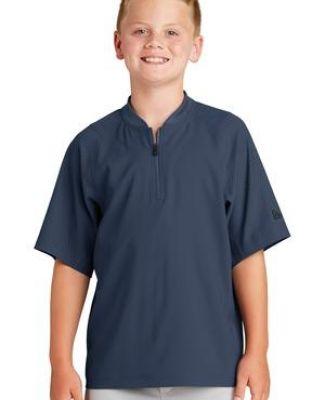 1001 YNEA600 New Era  Youth Cage Short Sleeve 1/4-Zip Jacket Catalog