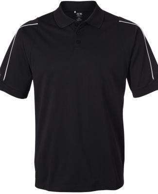 A76 adidas Golf Mens ClimaLite® 3-Stripes Cuff Po Black/ White