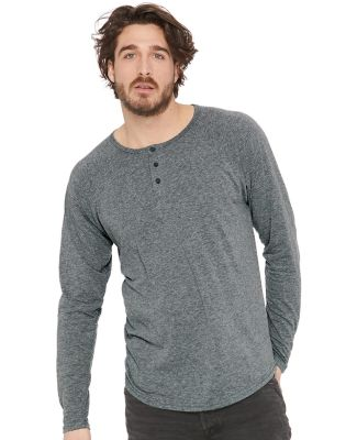 184 6072 Tri-Blend Long Sleeve Henley Catalog