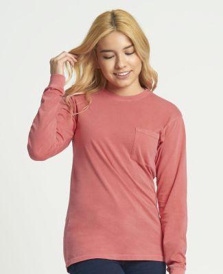 184 7451 Inspired Dye Long Sleeve Pocket Crew Catalog