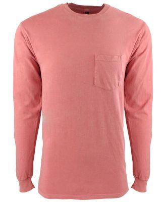 Next Level 7451 Inspired Dye Long Sleeve Pocket Cr GUAVA