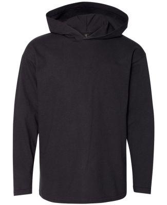 49 987B Youth Long Sleeve Hooded T-Shirt Black