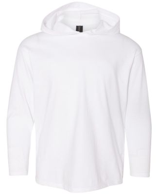 49 987B Youth Long Sleeve Hooded T-Shirt White