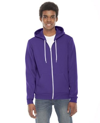 F497 American Apparel Flex Fleece Zip Hoody PURPLE