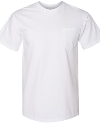 Gildan H300 Hammer Short Sleeve T-Shirt with a Poc WHITE