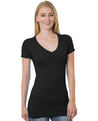 301 3407 Women's V-Neck Tee Black