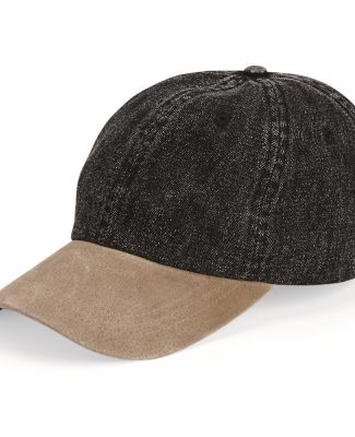 Mega Cap 7611 Washed Denim With Suede Bill Cap Catalog