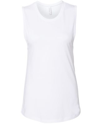 Women's Long Muscle Tank WHITE