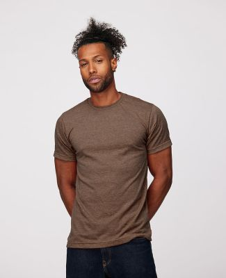 0241 Tultex Unisex Ultra Blend Tee  Heather Brown (Discontinued)