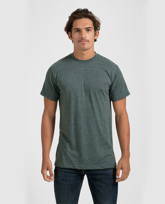 0241 Tultex Unisex Ultra Blend Tee  Heather Hunter