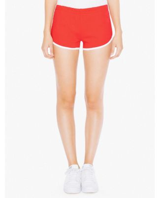7301W Ladies' Interlock Running Shorts Red/White