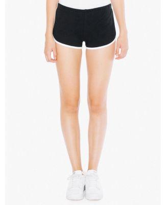 7301W Ladies' Interlock Running Shorts Black/White