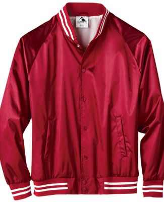 Augusta Sportswear 3610 Satin Baseball Jacket Striped Trim Catalog