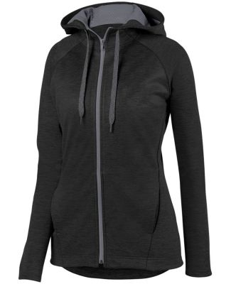 Augusta Sportswear 5558 Women's Zoe Tonal Heather Full Zip Hoodie Catalog