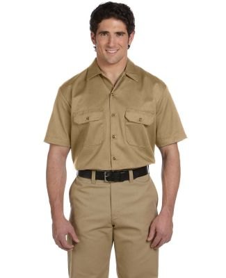 1574 Dickies Short Sleeve Twill Work Shirt  KHAKI