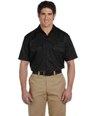 1574 Dickies Short Sleeve Twill Work Shirt  BLACK