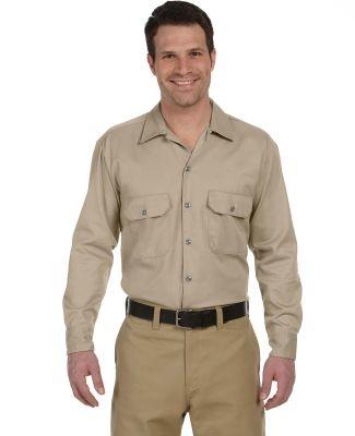 574 Dickies Long Sleeve Work Shirt  KHAKI