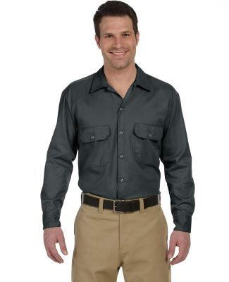 574 Dickies Long Sleeve Work Shirt  CHARCOAL