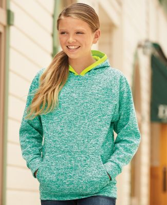 J America 8610 Youth Cosmic Fleece Hooded Pullover Sweatshirt Catalog