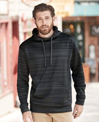 J America 8661 Odyssey Striped Performance Fleece Hooded Pullover Sweatshirt Catalog