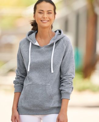 J America 8836 Women's Sueded V-Neck Hooded Sweatshirt Catalog