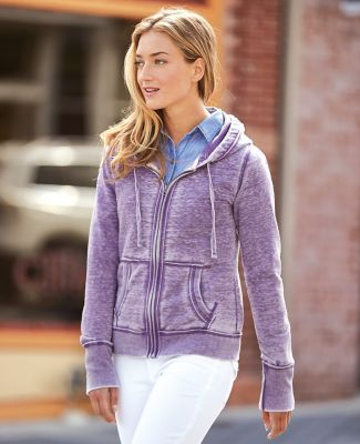 J America 8913 Women's Zen Fleece Full-Zip Hooded Sweatshirt Catalog