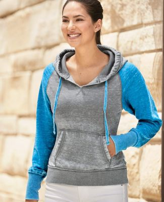J America 8926 Women's Zen Fleece Raglan Hooded Sweatshirt Catalog