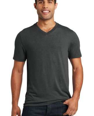 District Made DT1350     Mens Perfect Tr   V-Neck  Black Frost