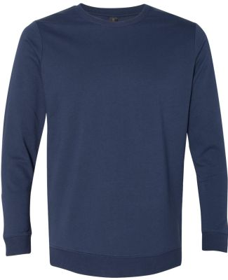 Anvil 73000 Unisex French Terry Crewneck Pullover Navy