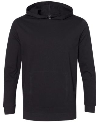Anvil 73500 French Terry Unisex Hooded Pullover Black