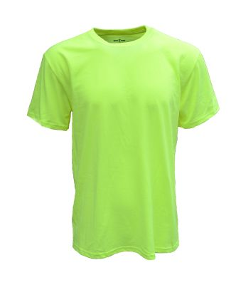 Bright Shield BS106 Adult Basic Tee SAFETY GREEN