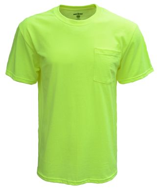 Bright Shield B116 Adult Pocket Tee SAFETY GREEN