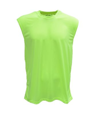 Bright Shield B199 Adult Performance Sleeveless Sh SAFETY GREEN