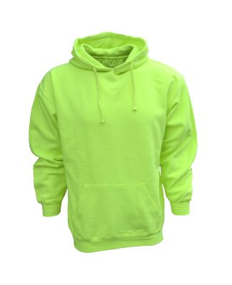 Bright Shield BS301 Adult Pullover Fleece Hood SAFETY GREEN