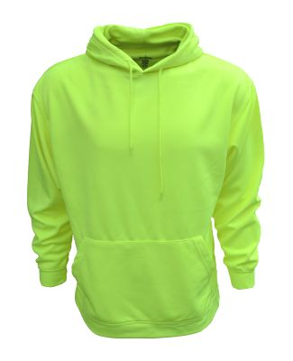 Bright Shield B309 Adult Performance Pullover Hood SAFETY GREEN