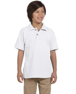 Harriton M200Y Youth 6 oz. Ringspun Cotton Piqué  WHITE