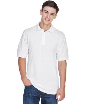 Harriton M265 Men's 5.6 oz. Easy Blend™ Polo WHITE