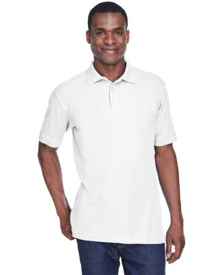 Harriton M280 Men's 5 oz. Blend-Tek™ Polo WHITE