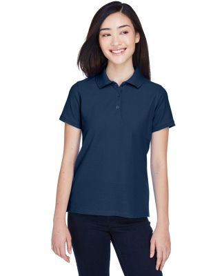 Harriton M280W Ladies' 5 oz. Blend-Tek™ Polo NAVY