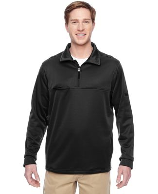 Harriton M730 Adult Task Performance Fleece Quarte BLACK