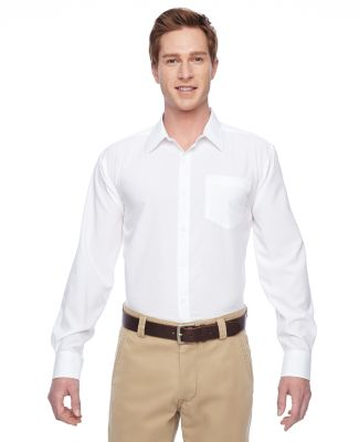 Harriton M610 Men's Paradise Long-Sleeve Performan WHITE
