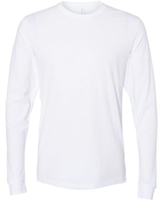 Next Level Apparel 6411 Unisex Sueded Long Sleeve  WHITE