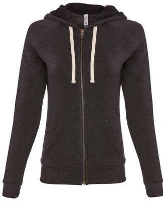 Next Level Apparel 9603 Ladies' PCH Raglan Zip Hoo HEATHER BLACK