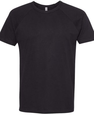 Next Level Apparel 3650 Unisex Raglan Short Sleeve BLACK/ BLACK