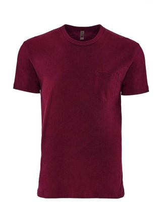 Next Level Apparel 3605 Unisex Pocket Crew MAROON