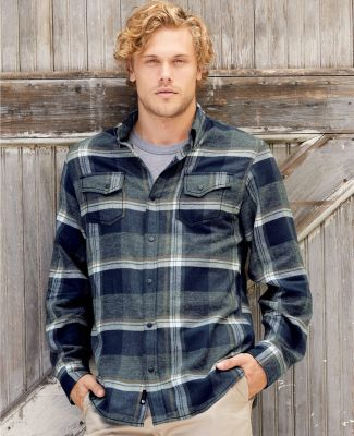 Burnside 8219 Snap Front Long Sleeve Plaid Flannel Shirt Catalog