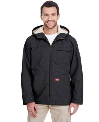 TJ350 Dickies Duck Sherpa Lined Hooded Jacket  BLACK