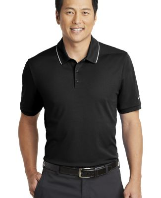Nike AA1849  Dri-FIT Edge Tipped Polo Black/White