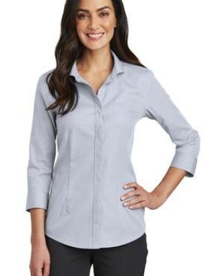 Red House RH690   Ladies 3/4-Sleeve Nailhead Non-Iron Shirt Catalog