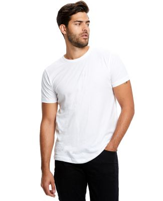 2400 US Blanks Adult Jersey Knit T-Shirt White